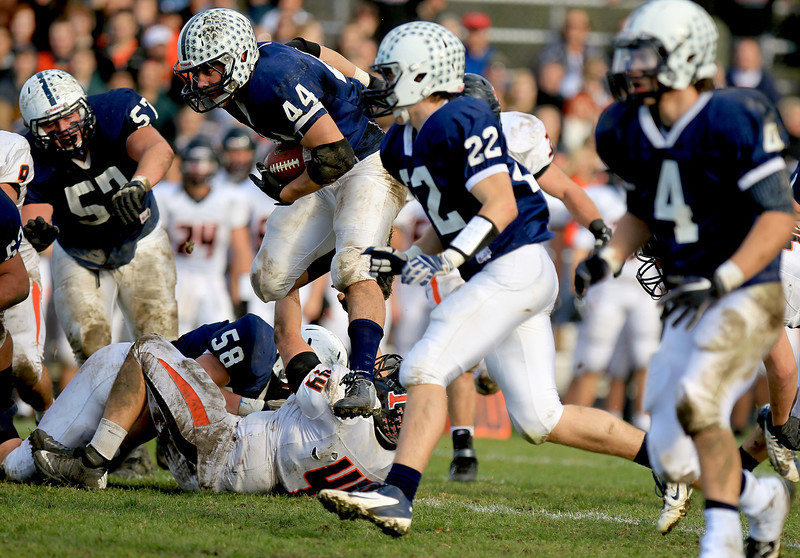 Sarah Nader - snader@shawmedia.com Cary-Grove's Kyle Norberg runs a play during Saturday's 6A quarterfinal football game in Cary on November 10, 2012. Cary-Grove won, 7-0.