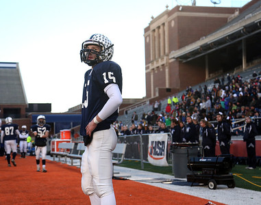 Josh Peckler - Jpeckler@shawmedia.com Cary-Grove kicker Garrett Glueck looks up at the score board as the seconds wind down before losing to Crete-Monee during the IHSA 6A State Championship game at Memorial Stadium in Champaign Saturday, November 24, 2012. Cary-Grove lost 26-33 to take home the second place trophy.