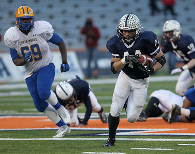 Josh Peckler - Jpeckler@shawmedia.com Cary-Grove's Kyle Norberg runs with the ball during the first  quarter of the IHSA 6A State Championship game at Memorial Stadium in Champaign Saturday, November 24, 2012. Cary-Grove lost 26-33 to take home the second place trophy.