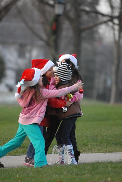 Christmas walk in Hinsdale