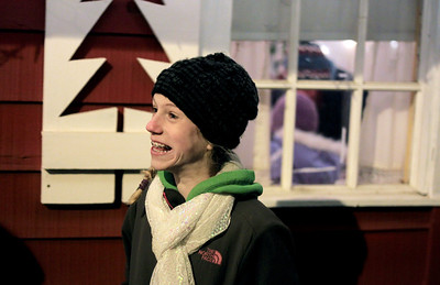 Sarah Nader - snader@shawmedia.com Anne Feye, 11, of St, Louis waits to talk to Santa after the Lighting of the Square in Woodstock on Friday, November 23, 2012. The event brings out a crowd of nearly 2,000 every year.
