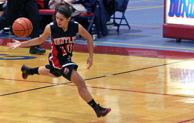 Monica Maschak - mmaschak@shawmedia.com Red Raider Kayla Barreto catches a loose ball in a game against St. Viator at the Dundee-Crown Thanksgiving Tournament on Friday, November 16, 2012.  The Lady Red Raiders beat the Lady Lions 48-33.