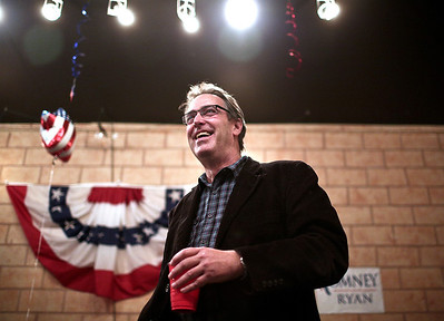 Josh Peckler - Jpeckler@shawmedia.com  Illinois State representative Mike Tryon smiles during a Republican rally party held at the McHenry County Election headquarters in Crystal Lake Tuesday, November 6, 2012.