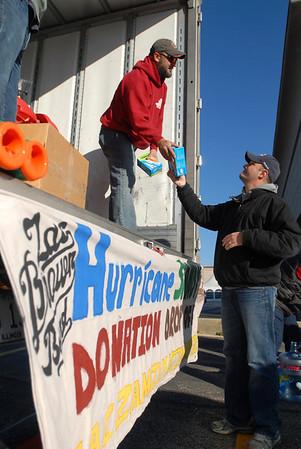 Sandy relief donation drop-off