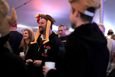 Sarah Nader - snader@shawmedia.com Ron Davis of Deerfield attends the 30th annual Turkey Testicle Festival at Parkside Pub in Huntley on Wednesday. November, 21, 2012. Admission from the event benefits several local nonprofit organization.