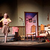 """Kaneland High School student Kyra Tryonski rehearses a scene from """"You Can't Take it With You,"""" at the school's auditorium Monday evening. Performances run Friday and Saturday.(Sandy Bressner photo)"""