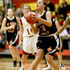 Carly Pottle of St. Charles East shoots the ball during their Schaumburg Thanksgiving Girls Basketball Tournament game against Schaumburg Tuesday night.(Sandy Bressner photo)