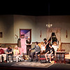 """Kaneland High School students rehearse a scene from """"You Can't Take it With You,"""" at the school's auditorium Monday evening. Performances run Friday and Saturday.(Sandy Bressner photo)"""