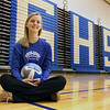 Jeff Krage -- For the Kane County Chronicle<br /> Geneva volleyball player Kelly Dalheim inside the school's gymnasium.<br /> Geneva 11/20/12