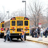 Students at Geneva High School leave for the day Friday.(Sandy Bressner photo)