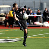 Adam Hunt of Wheaton Academy controls the ball during their 2-1 loss to Peoria Notre Dame in penalty kicks in the IHSA Class 2A state semifinal at Lincoln-Way North High School in Frankfort Friday. (Sandy Bressner photo)