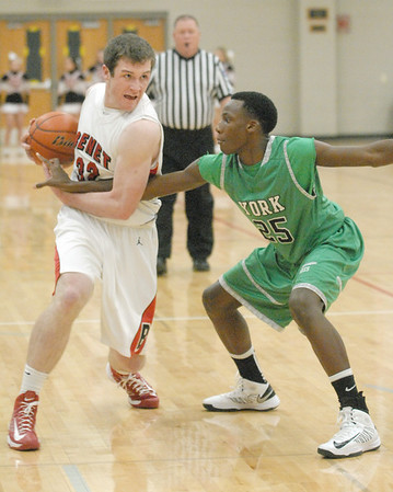 York at Benet boys basketball