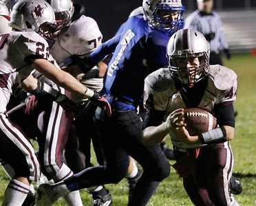 Candace H. Johnson Prairie Ridge's Zack Greenberg scores a touchdown in the third quarter against Lakes at Lakes Community High School in Lake Villa.