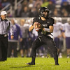 Kaneland's quarterback Drew David (4) drops back to pass against Hampshire at Kaneland High School in Maple Park, IL on Friday, November 01, 2013 (Sean King for Shaw Media)