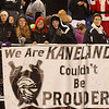 Kaneland fans braved the cold and rain to support their Knights against Hampshire at Kaneland High School in Maple Park, IL on Friday, November 01, 2013 (Sean King for Shaw Media)