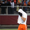 Jeff Krage – For Shaw Media<br /> St. Charles East's Jordan Moore walks off the field after the Saints fell 1-0 to Lake Park in Saturday's IHSA class 3A sectional championship at Schaumburg High School.<br /> Schaumburg 11/2/13