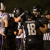 Kaneland's ol/dl Sam Bower (56) and Shane Jorgensen (72) celebrate with Connor Fedderly (18) after his touchdown catch against Hampshire at Kaneland High School in Maple Park, IL on Friday, November 01, 2013 (Sean King for Shaw Media)