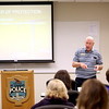 Jim Kintz, president of Fox Valley Court Watch, gives a presentation during a training session for FVCW volunteers at the St. Charles Police Department Wednesday morning.