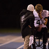 Kaneland's quarterback Drew David (4) reacts after leaving the game due to injury in the 2nd quarter against Joliet Catholic at Joliet Memorial Stadium in Joliet, IL on Saturday, November 09, 2013 (Sean King for Shaw Media)