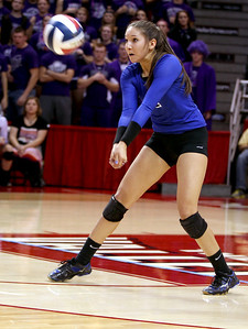 Sarah Nader - snader@shawmedia.com St. Francis' Sam Dubiel returns the ball during Friday's  IHSA Class 3A state semifinals against Central at Illinois State University in Normal, IL Friday, November 15, 2013. St. Francis won, 2-0.