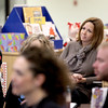 Batavia School District 101 Superintendent Lisa Hichens (center) observes a bi-monthly faculty meeting at H.C. Storm Elementary School.