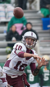 Randy Stukenberg for Shaw Media Prairie Ridge quarterback Brett Covalt throws a pass during the second quarter of the Class 6A playoff game in Rockford Saturday, Nov. 16, 2013.