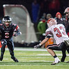 Aurora Christian's Noah Hagerty (2) runs after the catch against Stillman Valley during the 3A semi-final football game at Aurora Christian High School in Aurora , IL on Saturday, November 23, 2013 (Sean King for Shaw Media)