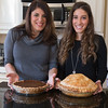 Maria Giancotti and Exchange Student Constanza Canali show ThanksGiving Pumpkin and Apple pies while dinner is still cooking in Geneva, IL on Thursday, November 28, 2013 (Sean King for Shaw Media)