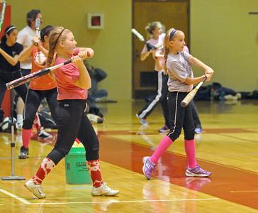 Folden holds Westmont softball clinic