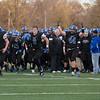 Geneva celebrates their 7A playoff victory over Hononegah at Geneva High School in Geneva, IL on Saturday, November 08, 2014 (Sean King for Shaw Media)