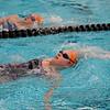 Jeff Krage – For Shaw Media<br /> St. Charles East's Isabel Herb, bottom, and Jordan Morling swim the backstroke during Monday's practice. <br /> St. Charles 11/10/14