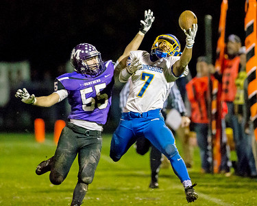 KKoontz - For Shaw Media Johnsburg's Alex Peete  makes a one handed catch in the Class 4A second round playoff game Friday, Nov. 4, 2016 in Manteno. Johnsburg defeated Manteno, 49-35.