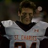 St Charles East's Michael Abruzzo  against Palatine on Nov. 12 at the Class 8A Playoff game in Palatine.
