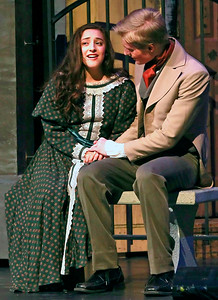 Candace H. Johnson-For Shaw Media Isabelle Esquivel, 16, of Wauconda, as Cosette, sings with Ethan Jankowski, as Marius, in a scene from the Garden at Rue Plumet during the dress rehearsal of Les Miserables at Wauconda High School.