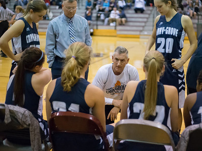 Cary-Grove's Rod Saffert coaches the girls' varsity basketball team Nov. 15, 2016 at Prairie Ridge High School in Prairie Ridge. Cary-Grove goes on to win 59 – 50. KKoontz - for Shaw Media