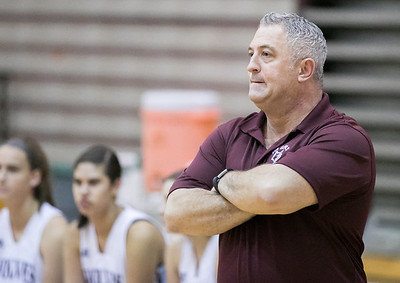Prarie Ridge's Rick Lima coaches the girls' varsity basketball team Nov. 15, 2016 at Prairie Ridge High School in Prairie Ridge. Cary-Grove goes on to win 59 – 50. KKoontz - for Shaw Media