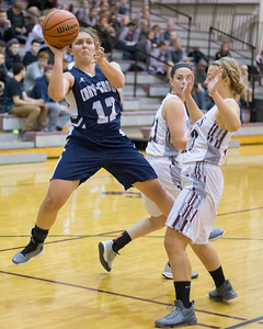 Cary-Grove's Katherine Demert (12) goes up for the shot over Prairie Ridge's Madison Ljunggren (13) Nov. 15, 2016 at Prairie Ridge High School in Prairie Ridge. Cary-Grove goes on to win 59 – 50. KKoontz - for Shaw Media