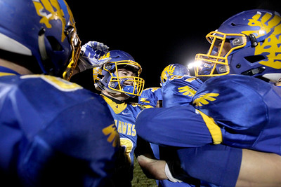 Sarah Nader - snader@shawmedia.com Johnsburg player celebrate after winning Friday's Class 4A semifinal playoff against Phillips Nov. 18, 2016. Johnsburg won in overtime, 23-20.