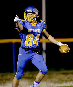 Sarah Nader - snader@shawmedia.com Johnsburg's Nico LoDolce celebrates a touchdown during the second quarter of Friday's Class 4A semifinal playoff against Phillips Nov. 18, 2016. Johnsburg won in overtime, 23-20.