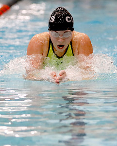 Sarah Nader - snader@shawmedia.com Crystal Lake co-op's Valerie Tarazi of Prairie Ridge competes in the 200-yard individual medley in the finals of the IHSA Girls State Swimming Championships at Evanston Township High School Saturday, Nov. 19, 2016. Tarazi came in sixth place with a time of 2:05.59.