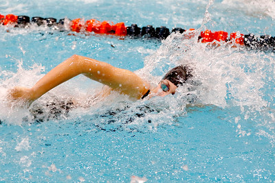 Sarah Nader - snader@shawmedia.com Payton Lange of McHenry competes in the 50-yard freestyle final at the IHSA Girls State Swimming Championships at Evanston Township High School Saturday, Nov. 19, 2016.