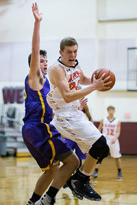 McHenry's Colton Klein (20) drives the lane through the Hononegah High School defense Monday, Nov. 21, 2016 in the Crystal Lake Central Thanksgiving Tournament held at Prairie Ridge High School in Prairie Ridge. Hononegah held on to win 54-52. KKoontz for Shaw Media