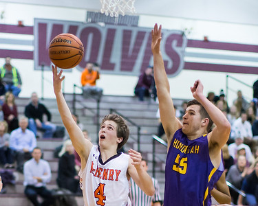 McHenry's Giovanni Calabrese (4) makes a layup with 4:15 left in the game to bring the Warriors to within a point against Hononegah Monday, Nov. 21, 2016 in the Crystal Lake Central Thanksgiving Tournament held at Prairie Ridge High School in Prairie Ridge. Hononegah held on to win 54-52.  KKoontz for Shaw Media
