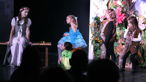 Becca Spezzano, left, plays Briar Rose (Aurora) during Marquee Youth Stage's presentation of Sleeping Beauty in St. Charles on Nov. 19. The theater company, located in The Quad St. Charles will next perform A Christmas Carol Dec. 2-4 and Dec. 9-11.