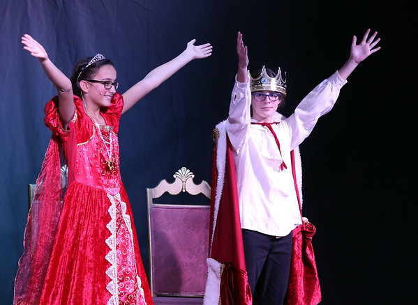 Gabriella Cerrone plays Queen Stefanie and Brooke Wise plays King Stefan during Marquee Youth Stage's presentation of Sleeping Beauty in St. Charles on Nov. 19. The theater company, located in The Quad St. Charles will next perform A Christmas Carol Dec. 2-4 and Dec. 9-11.