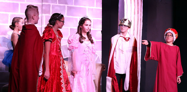 Erik Otten, right, plays King Hubert and Becca Spezzano, center, plays Aurora during Marquee Youth Stage's presentation of Sleeping Beauty in St. Charles on Nov. 19. The theater company, located in The Quad St. Charles will next perform A Christmas Carol Dec. 2-4 and Dec. 9-11.