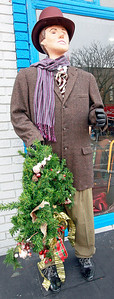 Candace H. Johnson-For Shaw Media Joyful Fred from Dickens Holiday Village is on display in downtown Antioch.