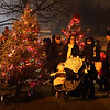 People gather around Christmas Tree Lane during the Celebration of Lights Festival on the Batavia Riverwalk on Nov. 27.