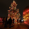People gather around Christmas Tree during the Celebration of Lights Festival on the Batavia Riverwalk on Nov. 27.