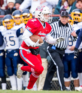 Marian Central Catholic's Luke Rogers runs in open space during the Class 5A state quarterfinal game against Sterling Saturday, November 11, 2017 in Woodstock. The Hurricanes come up short falling to Sterling 22-10. KKoontz- For Shaw Media